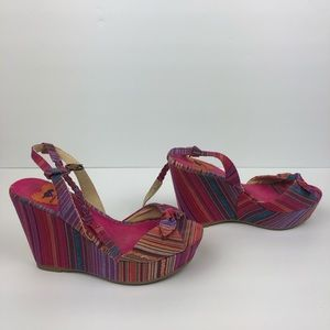 "Rocket Dog | Rainbow Wedge 4"" High Heels"